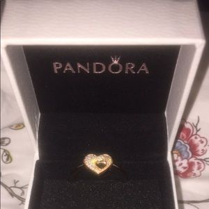 Pandora Heart Rose Gold Ring